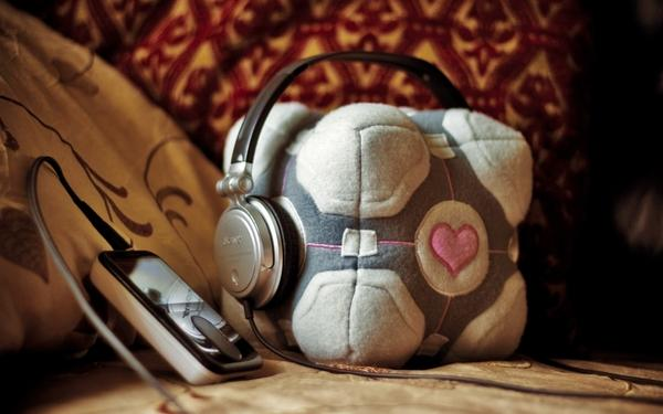 headphones,Portal headphones portal music companion cube 1920x1200 wallpaper – Music Wallpaper – Free Desktop Wallpaper