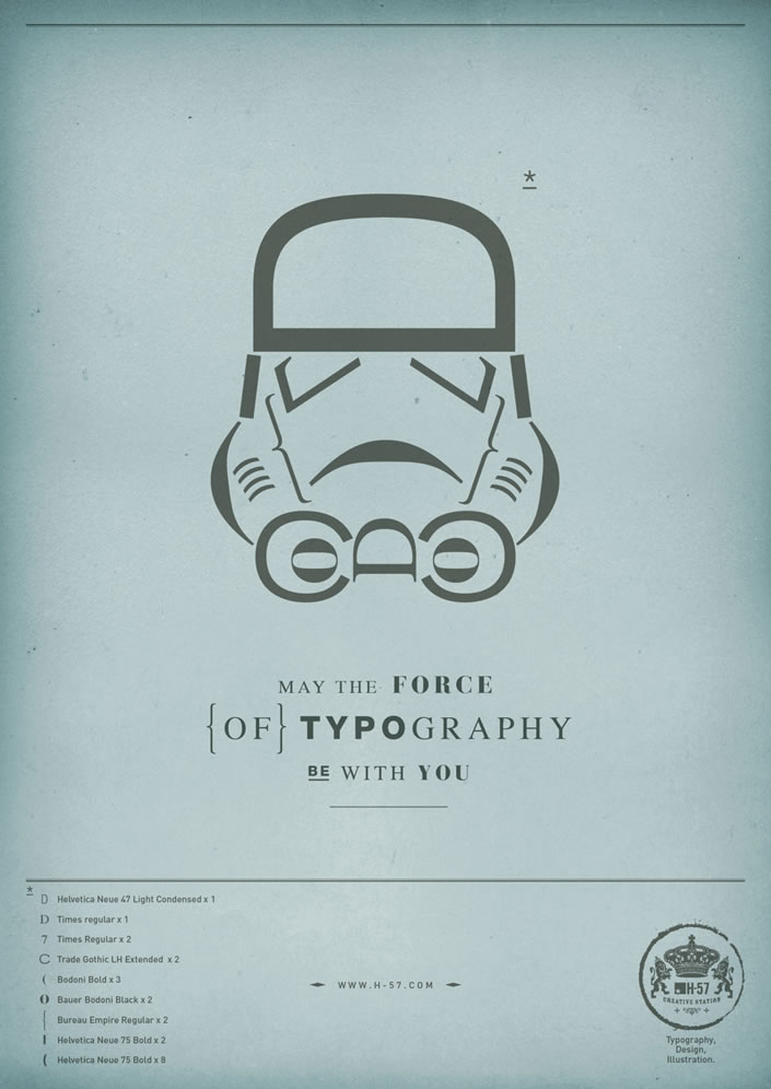 May the Force of Typography Be With You – Illusion - The Most Amazing Creations in Art, Photography, Design, Technology and Video.