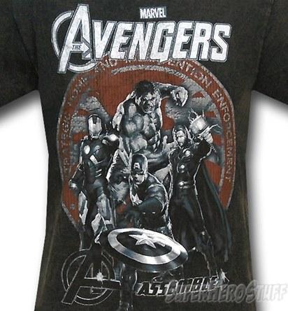 Avengers SHIELD Assemble 30 Single T-Shirt