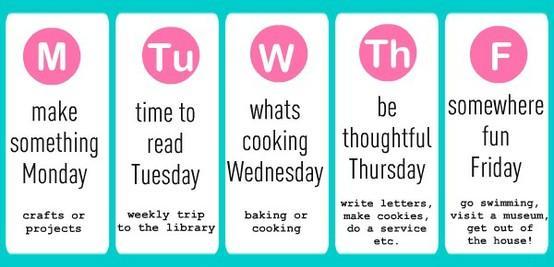 For my kiddos :) / Summer Schedule Idea. Love it! Great Idea!