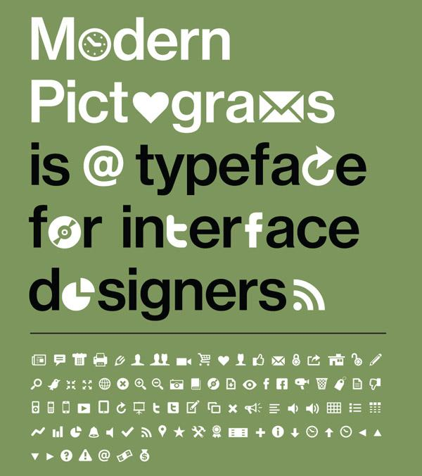 90+ Modern Pictograms Typeface For Interface Designers | Fonts | Graphic Design Junction