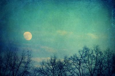 Ice Moon Art Print by Frau-Bella | Society6