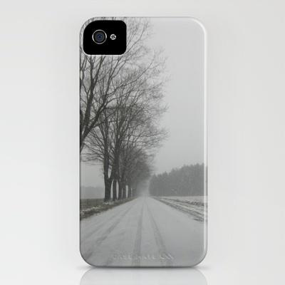 The road to snowhere iPhone Case by Art De L'aube | Society6