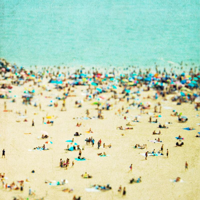 Coney Island Beach Stretched Canvas by Minagraphy | Society6