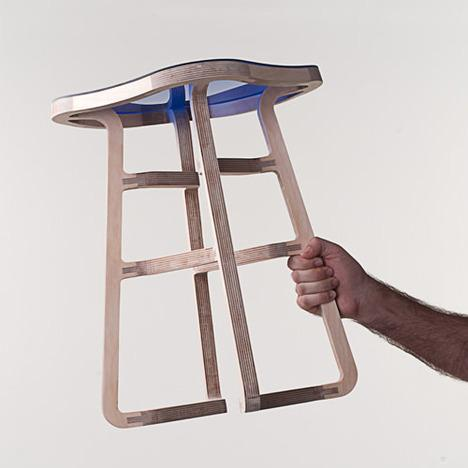 Woodini Stool by Bakery Design
