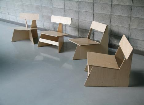 Four Brothers Chairs by Seungji Mun