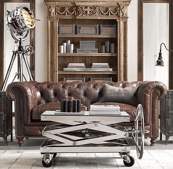 Kensington Leather Sofas Restoration Hardware