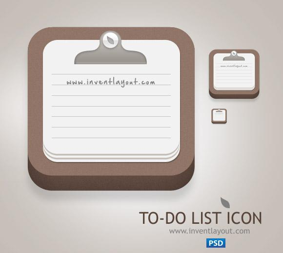 To-Do List Icon | Inventlayout.com - Download free PSD, AI resources like textures, icons, buttons, backgrounds and many many more...