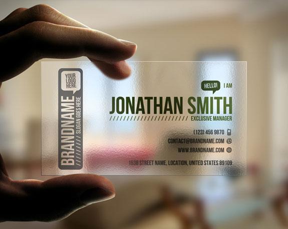 Unique Transparent Business Cards Design | The Design Work