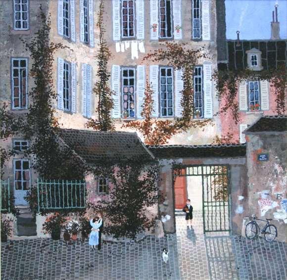 Delacroix La Cour De Rohan Eclairee 2414 Acrylic 13x13F18x18