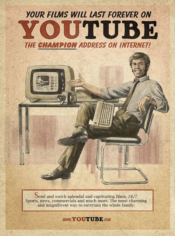 Retro/ Vintage Social Media Propoganda Posters   blurppy