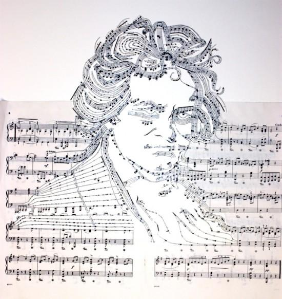 Sheet Music Collages | Fubiz™