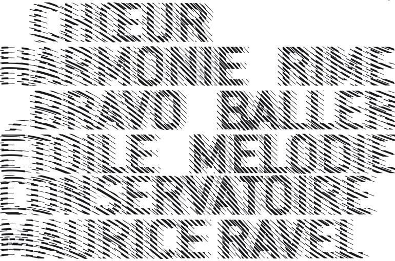 DES SIGNES – Muchir et Desclouds - Studio de graphisme à Paris – CONSERVATOIRE DE MUSIQUE ET DE DANSE, MAURICE RAVEL