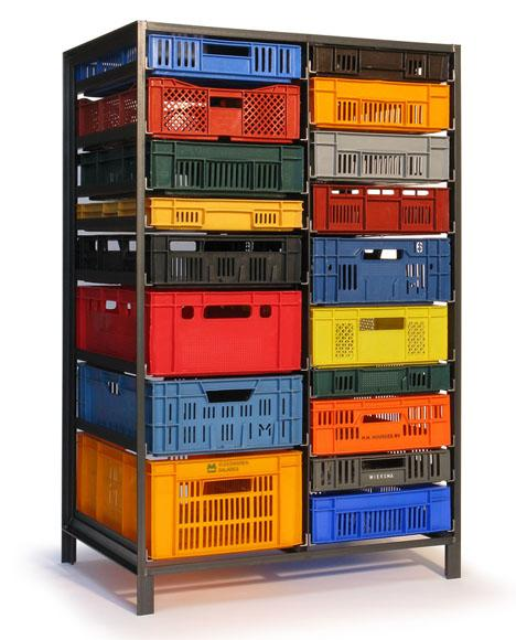 Mark van der Gronden's Storage Furniture from Repurposed Industrial Crates - Core77