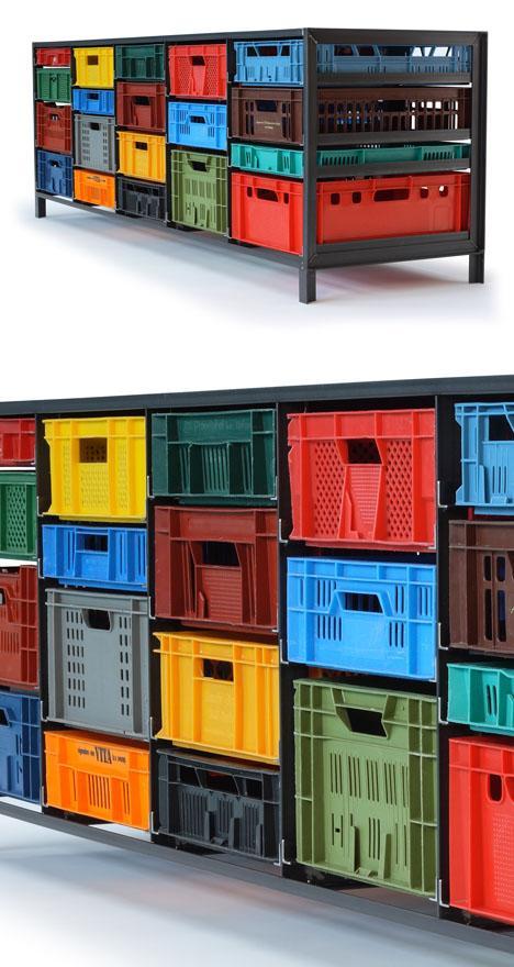 Mark van der Gronden's Storage Furniture from Repurposed Industrial Crates - Core77