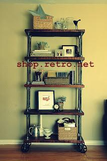 Vintage Industrial Inspired Furniture Shelving