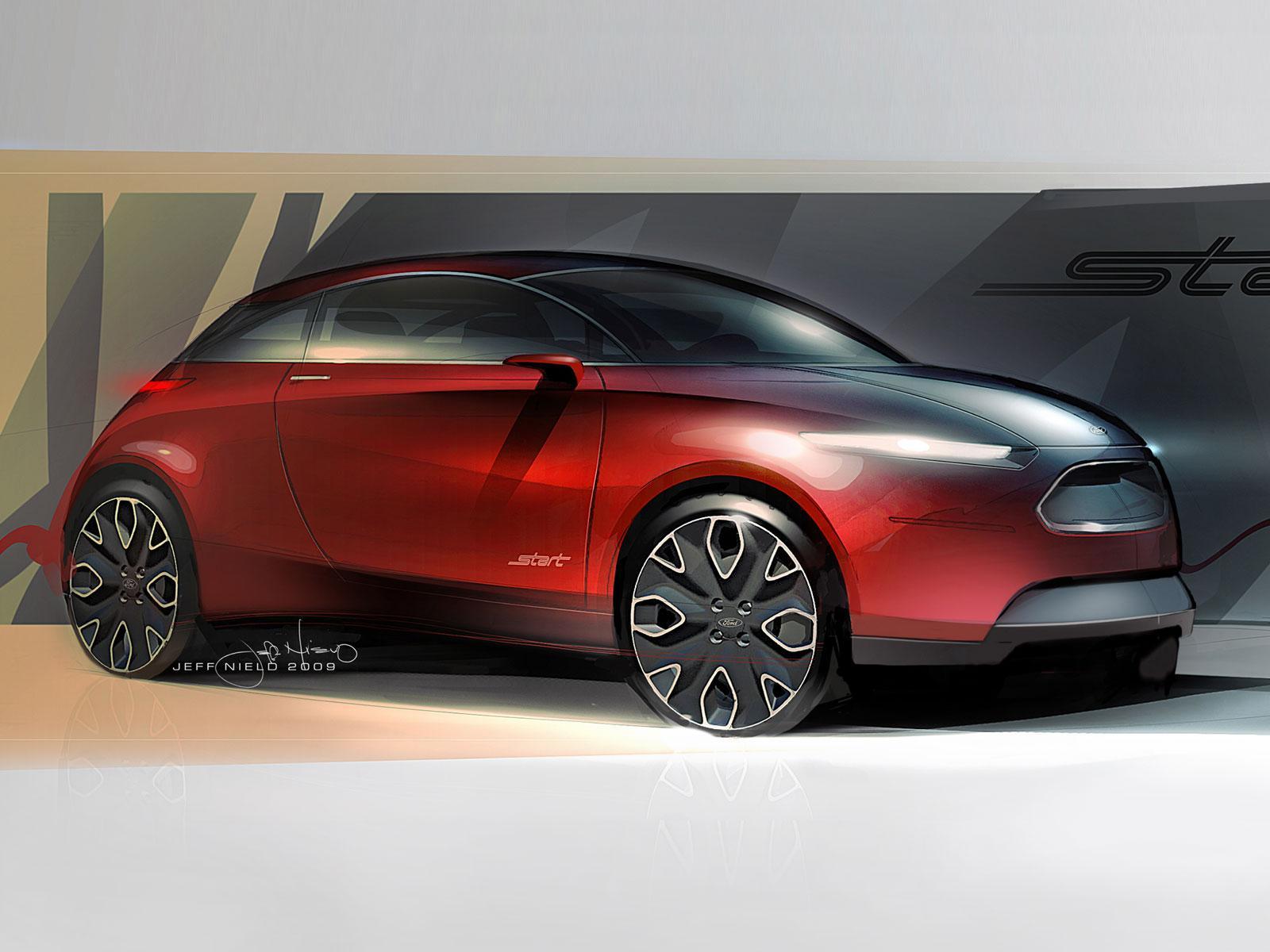 Ford Start Concept Design Sketch - Car Body Design