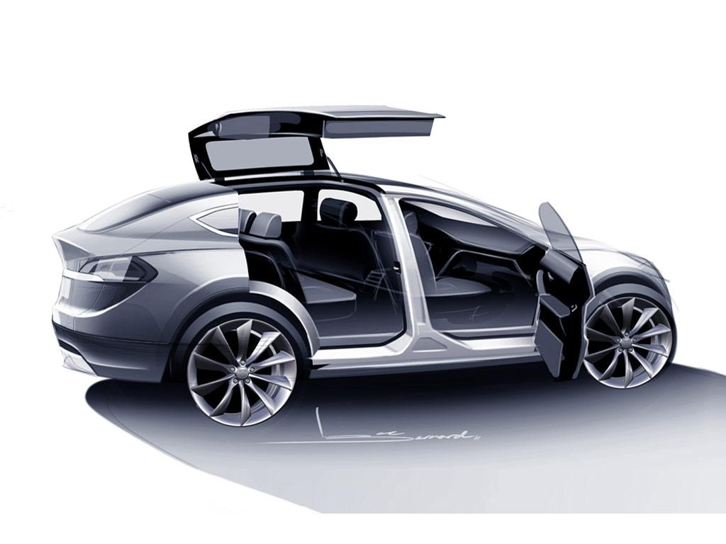 Tesla Model X Concept - Design Sketch - Car Body Design