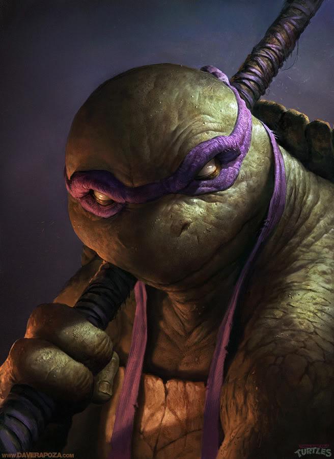 Tartarugas Ninja Super Realistas de Dave Rapoza | Abduzeedo | Graphic Design Inspiration and Photoshop Tutorials