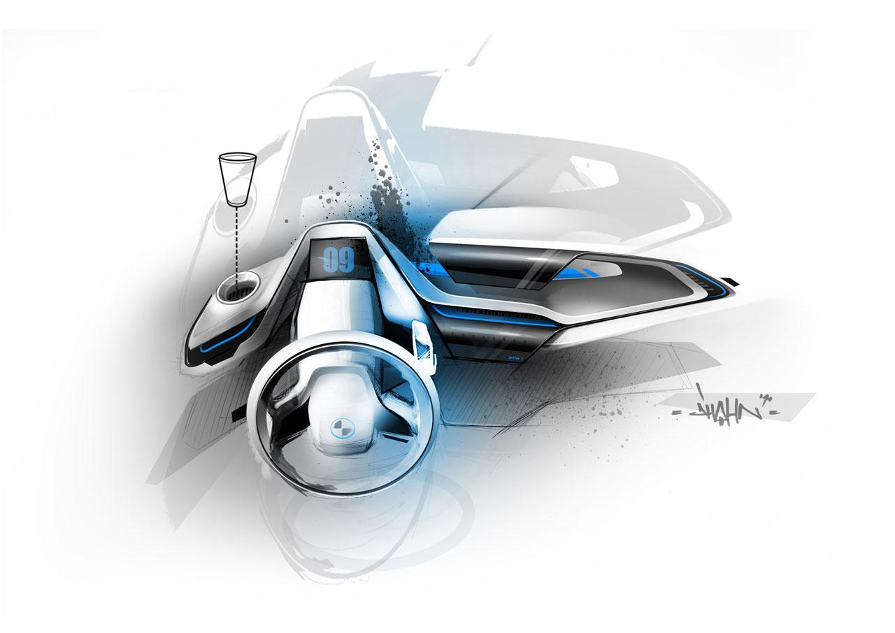 BMW i3 Concept Interior Design Sketch - Car Body Design