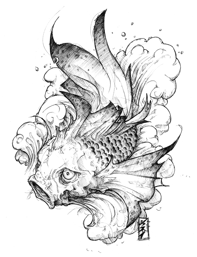 tattoo : koi ichi by *fydbac