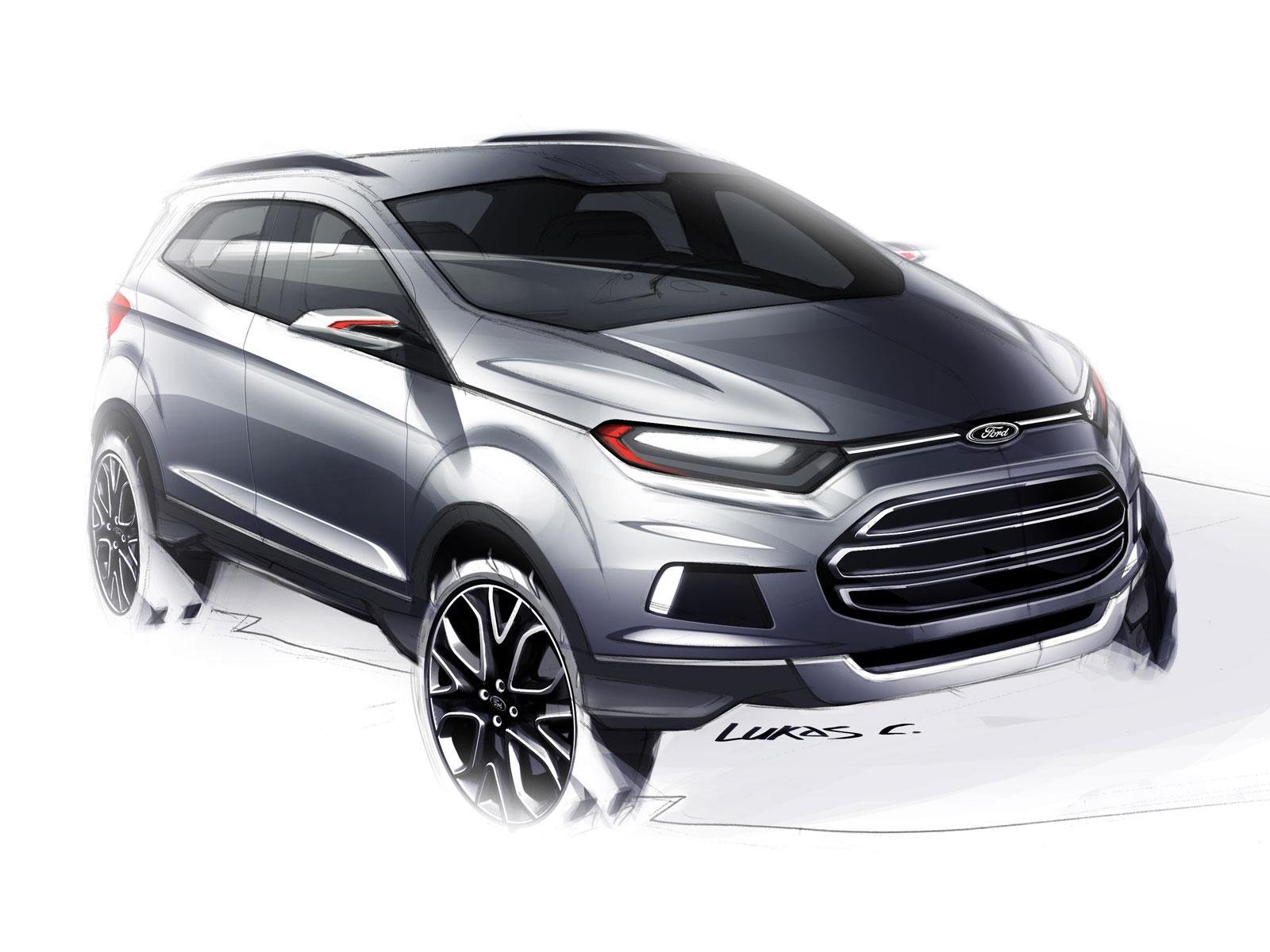 Ford EcoSport Concept Design Sketch - Car Body Design