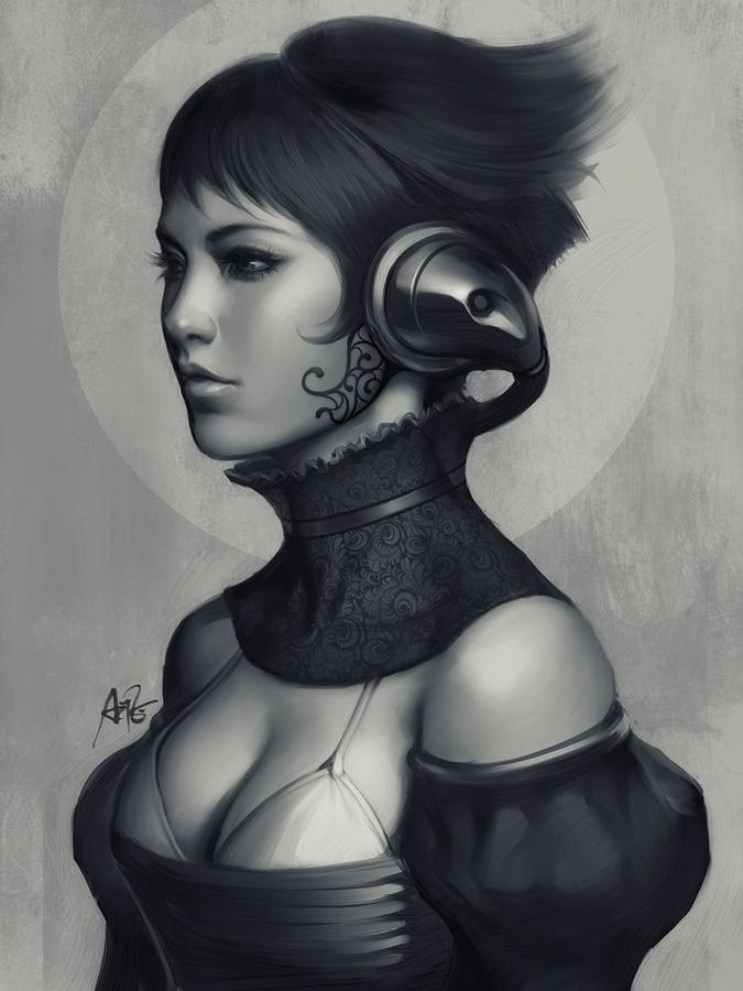 Pepper Grayscale II by `Artgerm