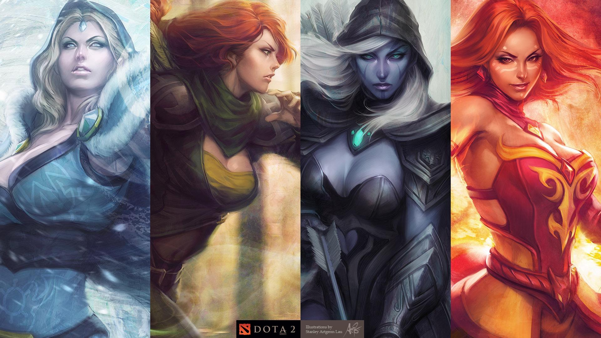 DotA2 Heroines by `Artgerm