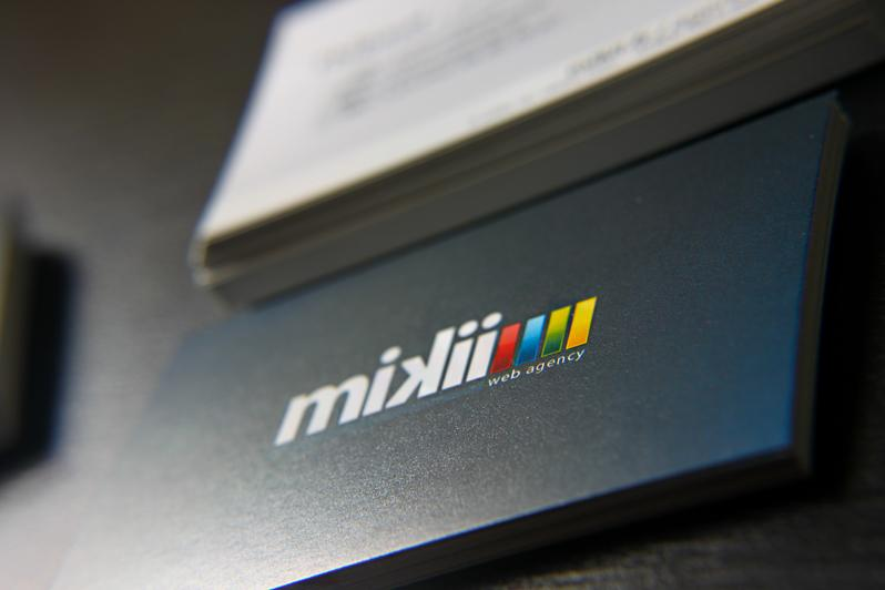 Web agency mikii.fr - Business Cards - Creattica