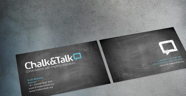 Chalk & Talk Business Cards - Business Cards - Creattica