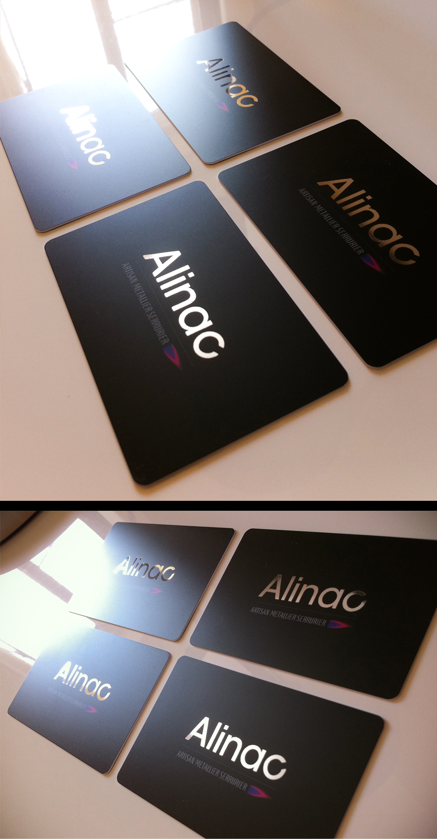 Alinac / Plastic business cards - Business Cards - Creattica