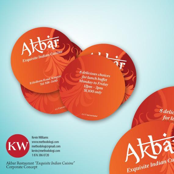 Akbar Restaurants Buffet Pods - Business Cards - Creattica