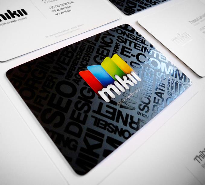 mikii.fr / agence web - Business Cards - Creattica