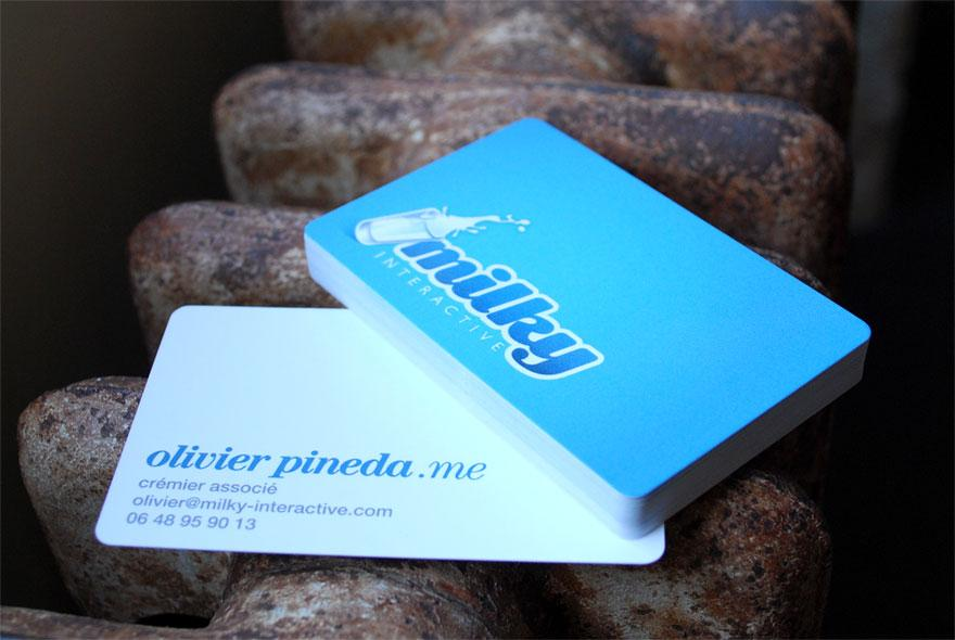 Milky Interactive - Business Cards - Creattica