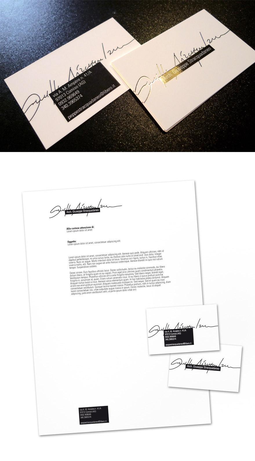 Giuseppe Stracquadaneo - Business Cards - Creattica