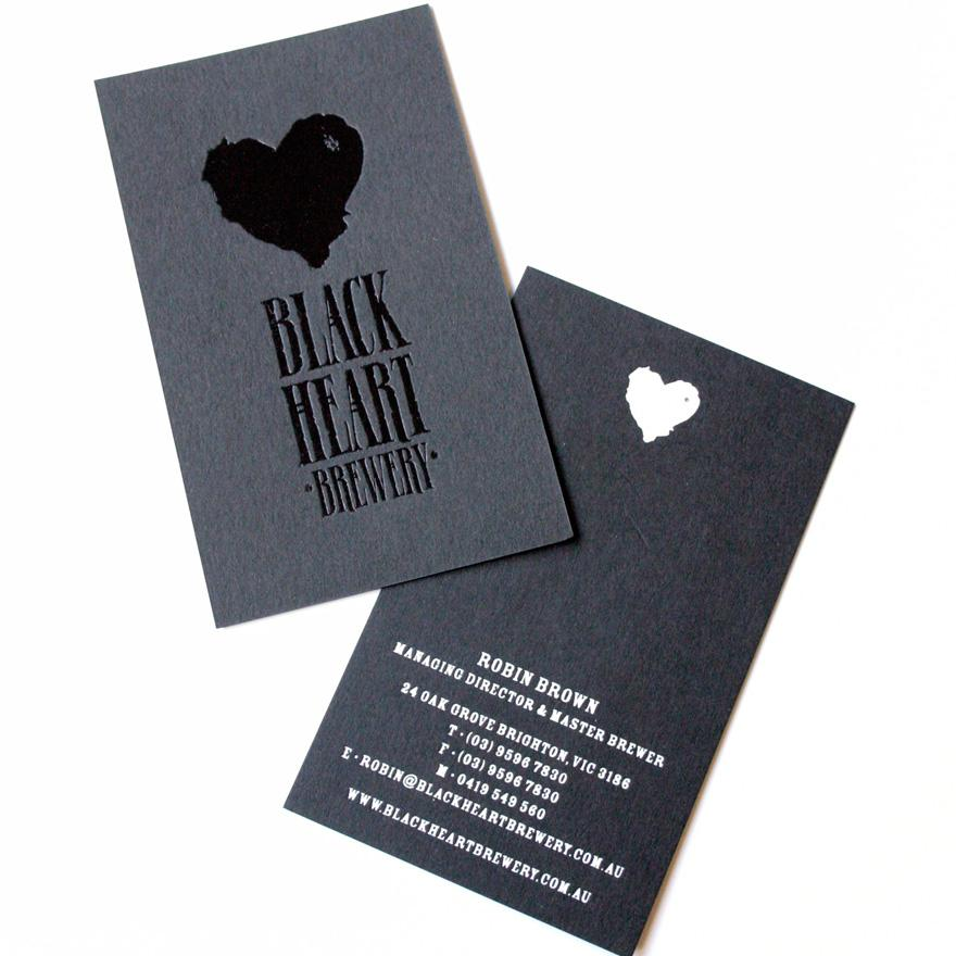 Black Heart Brewery - Business Cards - Creattica