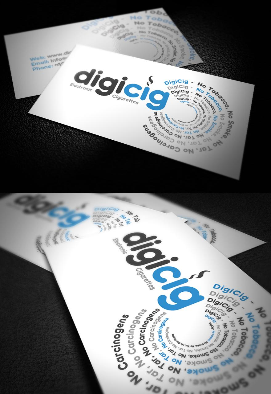DigiCig Business Card Design - Business Cards - Creattica