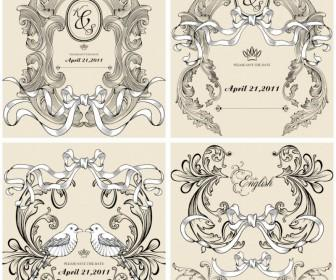 Decorative frames for wedding invitations vector | Vector Graphics Blog