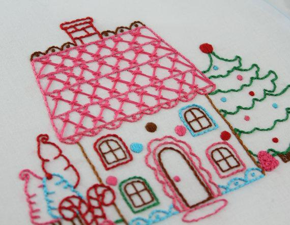 Gingerbread Embroidery Pattern Packet by bigBgsd on Etsy