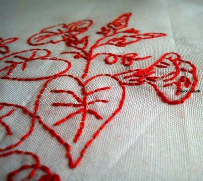 Royce's Hub: Basic Embroidery Stitches : Back Stitch in Redwork Embroidery