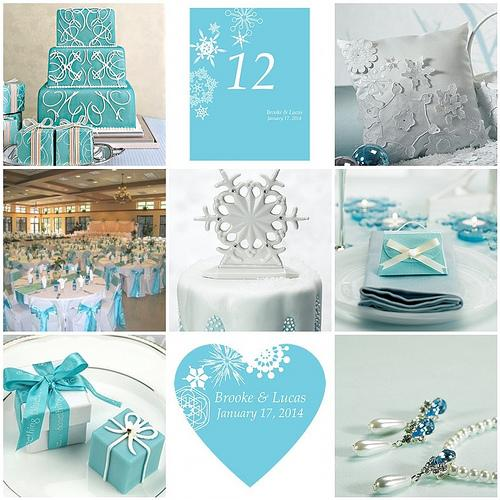 Things Festive Wedding Blog: Winter Wedding Theme – Winter Finery Meets Tiffany Blue