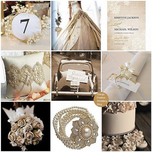 Things Festive Wedding Blog: Vintage Wedding Theme - Vintage Lace and Pearls