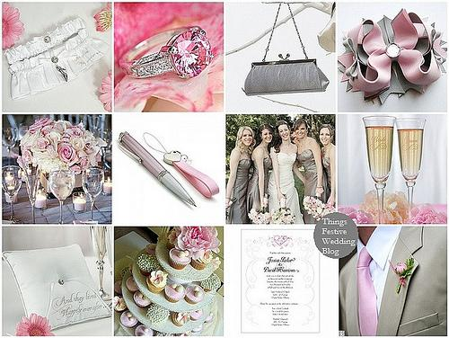Things Festive Wedding Blog: Pink and Silver Wedding Color Palette