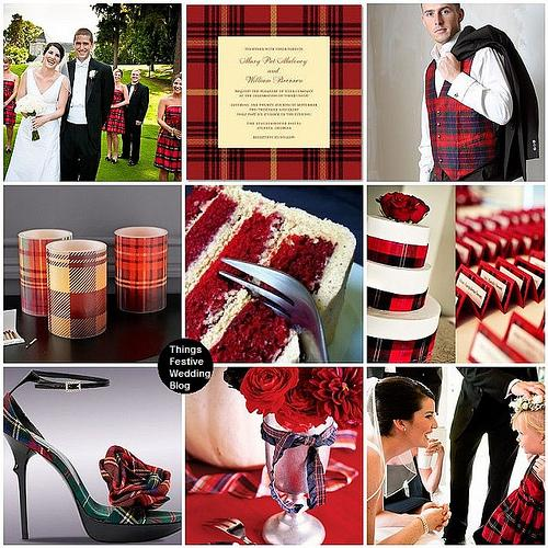 Things Festive Wedding Blog: Tartan Plaid Scottish Wedding Theme