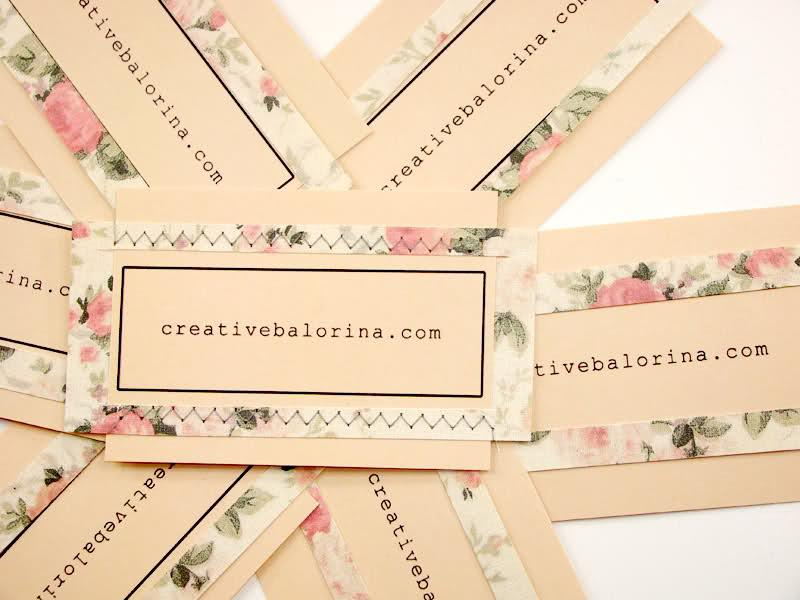 day 23 ~ handmade business cards - Creative Balorina