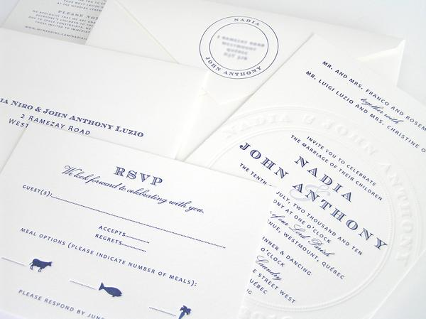 Wedding Invitation - Letterpress