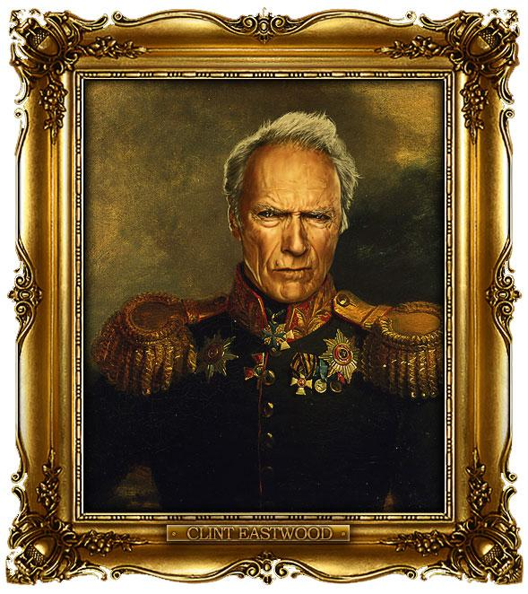 Celebrities Digitally Painted As Russian Generals | inspirationfeed.com
