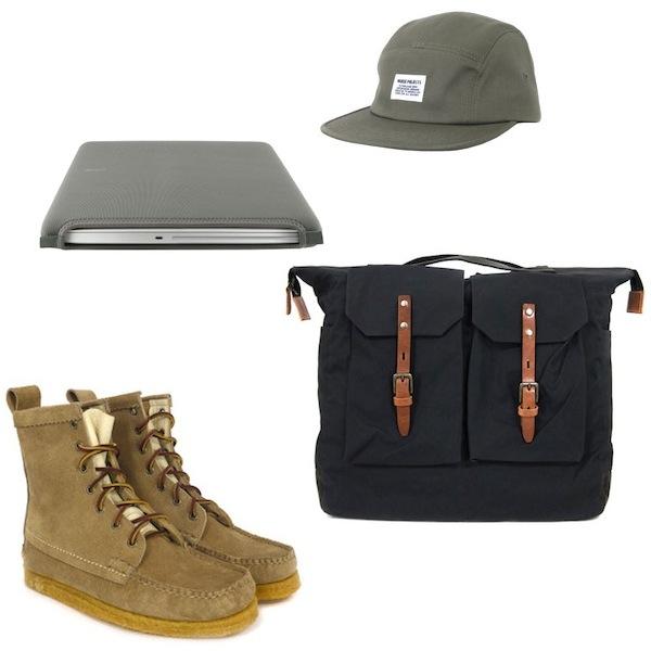 Yuketen Khaki Sport Hunt Boots | Ally Capellino Frank Black Bag | Norse Projects Khaki Hektor Nature Cap | Cote Et Ciel Diver Sleeve discount sale voucher promotion code | fashionstealer