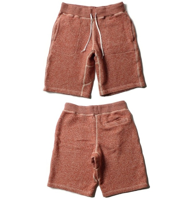 WINGS + HORNS LOOP TERRY SWEAT SHORTS BURNT ORANGE discount sale voucher promotion code | fashionstealer