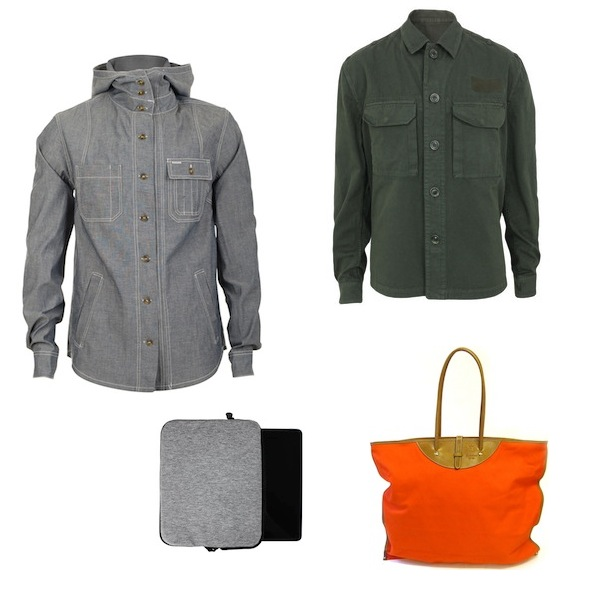 Heritage Research Chambray Pacific Deck Jacket | Acne Military Jacket | Calabrese Tote Bag | Cote et Ciel IPad Bag discount sale voucher promotion code | fashionstealer